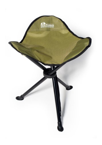 "EARTH ""EASY-SEAT"" CAMP STOOL w/ STEEL LEGS, COMFORTABLE NYLON FABRIC, 3-LEGGED OUTDOOR FISHING STOOL, SIT ANYWHERE! by Earth"