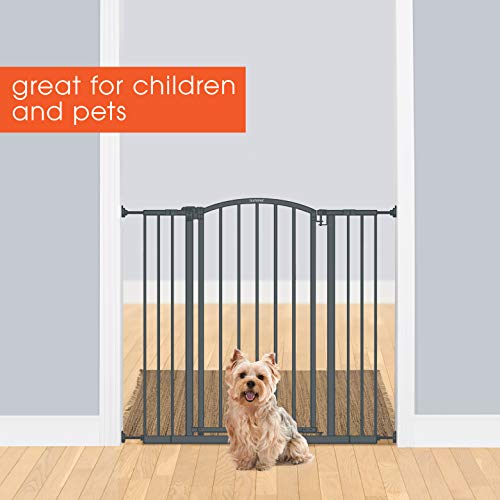 """Summer Extra Tall Decor Safety Baby Gate, Gray – 36"""" Tall, Fits Openings of 28"""" to 38.25"""" Wide, 20"""" Wide Door Opening, Baby and Pet Gate"""
