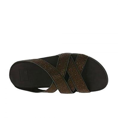 a20df0933e37 Fitflop Women s Slinky Rokkit Criss-Cross Slide Open-Toe Sandals   Amazon.co.uk  Shoes   Bags
