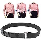 Men's and Women's Shirt Stays Belt Adjustable Elastic Shirt Clip Dress Belt