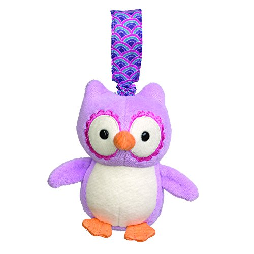 Apple Park Organic Picnic Pals Stroller Toy - Purple Owl