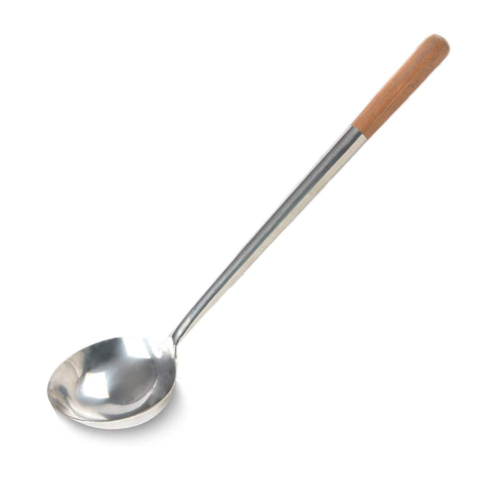 Tenta Kitchen Stainless Steel Long Pot Soup Spoon Ladle Professional Large Serving Ladle Chef Spoon Gravy Shovel Ladle School Canteen Hotel Kitchen Restaurant