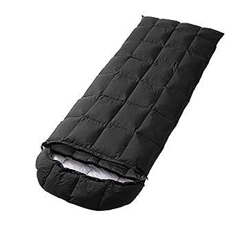 WLIXZ Saco de Dormir Tipo Sobre, Ideal para Adultos Excursionismo con Mochila, Clasificación de Temperatura Extrema 23F / -5 ℃,Black: Amazon.es: Deportes y ...