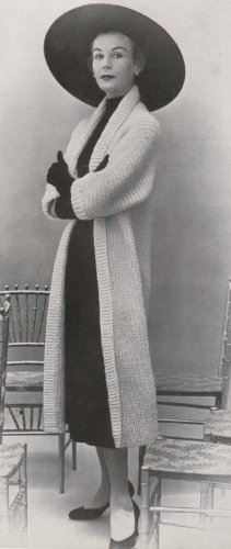 Knit The Tuxedo Tube Sweater Coat Knitting Pattern Sizes 12 to 14 and 16 to 18