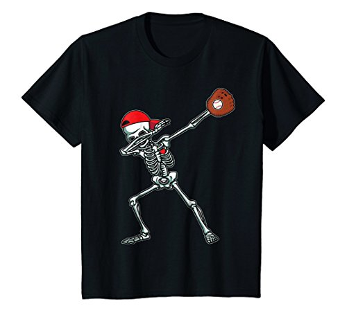 Kids Dabbing Skeleton Baseball T-Shirt Dab Hip Hop