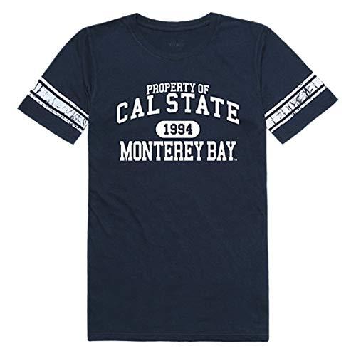 Bay Monterey Clothing Women - CSUMB California State University, Monterey Bay NCAA Women's Property Football Tee t Shirt, XX-Large