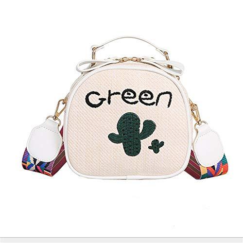 Wide Strap Kleur C Shoulder Shell Embroidery 4 Leisure Straw Bag Fashion Mzdpp SqvwYxP0