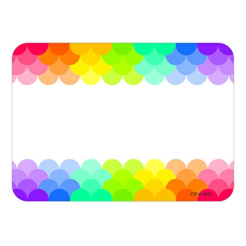 Creative Teaching Press Painted Palette Rainbow Scallops Labels / Name Tags (4821)