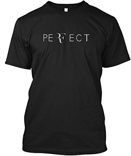 Roger Federer Perfect T-Shirts Tshirt - M - Black - 100% Preshrunk ComfortSoft Cotton - Hanes Tagless Tee