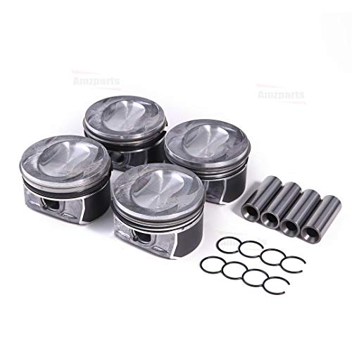 Amzparts STD Pistons Rings Set Ø76.5mm For VW Jetta Golf Plus Tiguan Scirocco 1.4TSI CAVD ()