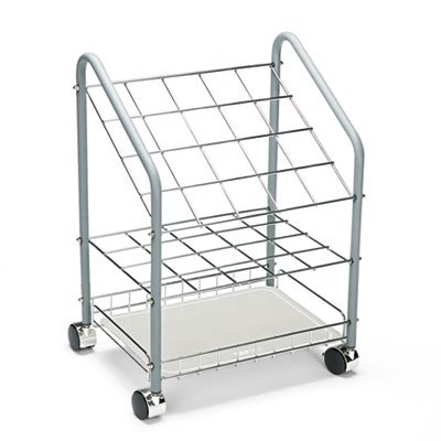 Wire Roll/File, 20 Compartments, 18w x 12-3/4d x 24-1/2h, Gray, Sold as 1 (Safco Wire Roll File)