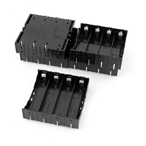 5Pcs Li-ion DIY Battery Plastic Case Holder for 4x3.7V 18650