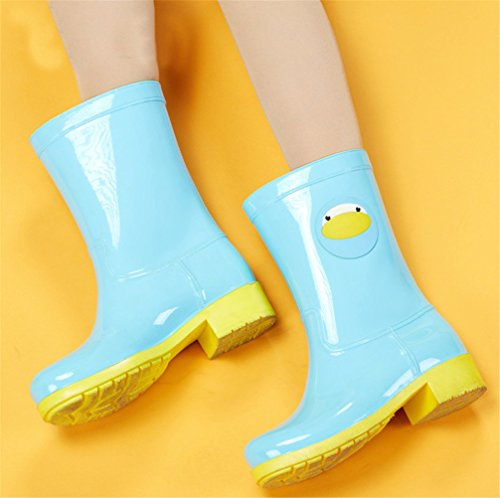 Mid Rain Blue Animal Waterproof Footwear Calf Women Rain Antiskid Boots Casual Cute TTrvEP