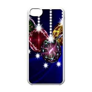 Iphone 5C Christmas Phone Back Case DIY Art Print Design Hard Shell Protection LK081706