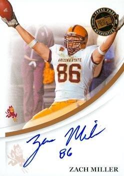 Zach Miller autographed Football Card (Arizona State) 2007 Press Pass Rookie ()