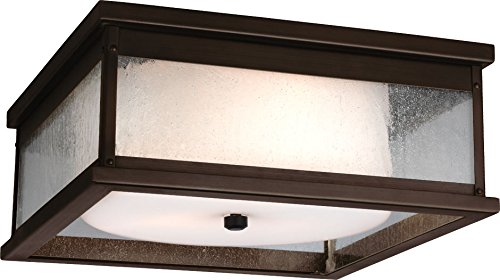 Feiss OL11113DAC Pediment Outdoor Flush Mount Ceiling Lighting, Copper, 2-Light (13