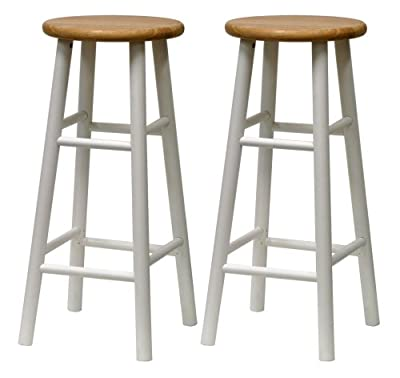 Winsome Wood S/2 Beveled Seat 30-Inch Bar Stools