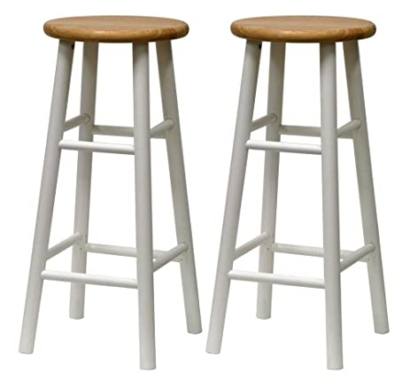Winsome Wood S/2 Beveled Seat 30-Inch Bar Stools Nat/Wht  sc 1 st  Amazon.com & Amazon.com: Winsome Wood S/2 Beveled Seat 30-Inch Bar Stools Nat ... islam-shia.org