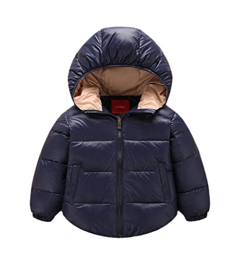 Outwear Jacket Chic Infant Kids Lemonkids;® Lightweight Navy Zipper Hooded Down nU8qXvZ