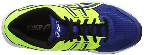Asics Gel-Galaxy 8 GS, Unisex-Kinder Laufschuhe Blau (Blue/Black/Flash Yellow 4290)