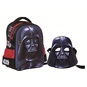 Mochila relieve 3D 31cm con mascara de regalo Darth Vader de Star Wars
