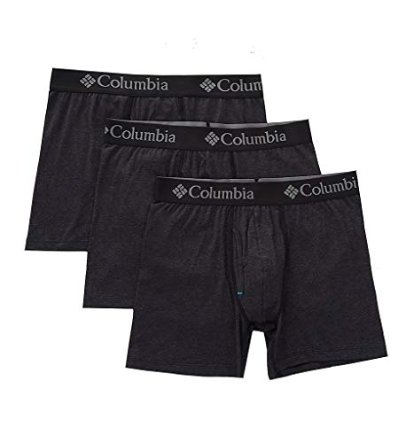 Columbia Boxers - Columbia Men's Performance Cotton Stretch Boxer Brief-3 Pack, New Black, Large
