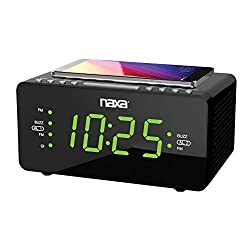 Naxa Electronics NRC-191 Radio Alarm Clock Shiny, Black