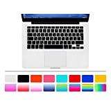 """HRH Arabic Language Silicone Keyboard Cover Skin for MacBook Air 13"""" MacBook Pro with or without Retina Display 13""""15"""" 17"""" Apple Wireless Bluetooth Keyboard MC184LL/B European/ISO Layout-Black"""