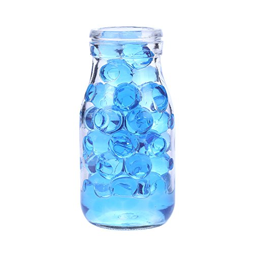AINOLWAY High Elastic Water Beads Gel Pearls Jelly Crystal Soil for Vase Fillers 4oz Almost 15,000 Pcs (Blue)