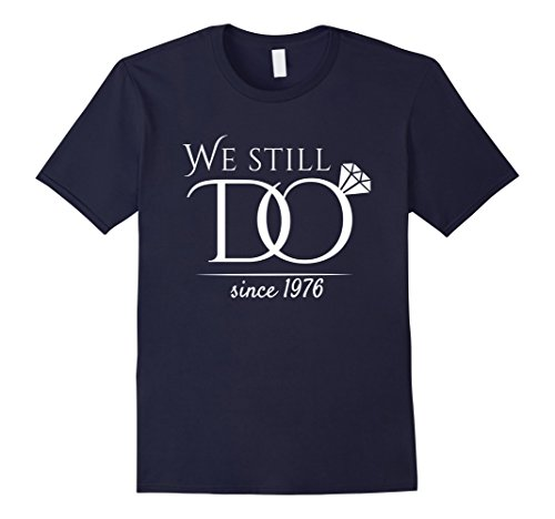 42nd Wedding Anniversary T-Shirt Funny For Married In 1976 W