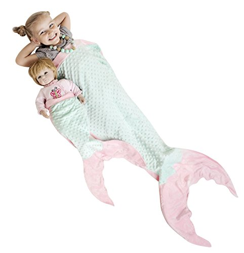 Great Features Of PoshPeanut Mermaid Blanket Softest Minky Comfy Cozy Blankie for Kids Ages 3-13 wit...