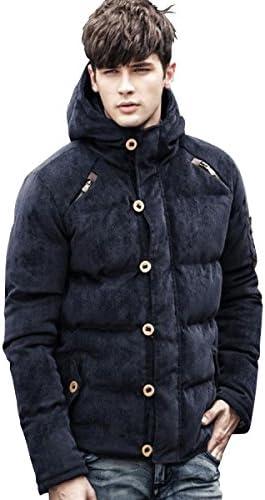 メンズジャケット ダウンコート ファスナー ボタン 無地 柄 アウター 秋物メンズ 冬物 防寒 防風 長袖 長そで カーディガン カットソー 襟 フード 無し 厚い 厚手 厚め 薄い 薄手 生地 スリム 細身 着痩せ 小さい 大きい サイズ s m l xl GO-25 (10 ネイビーL)