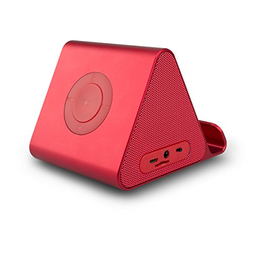 Mini Wireless Bluetooth Speaker, Portable Wireless Speaker with Phone Stand for Car and Home Use with Viewing Cradle for Ipads, Phones,Tablets - Pink