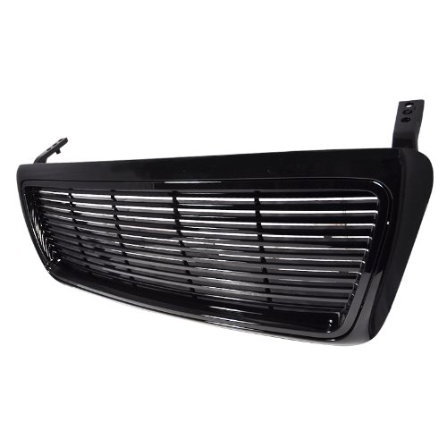 (Spec-D Tuning HBG-F150041PCBK-GG Ford F150 F 150 Xl Xtl Black abs Billet Grill Grille 1 Pc )