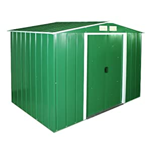 duramax eco galvanised metal garden shed 15 years guarantee