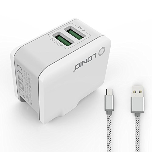 f86d8323de2 LDNIO 2 USB (Auto Max 12W) AUTO-ID Wall Charger with Optional USB