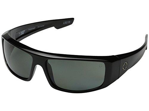 Spy Optics Logan Sunglasses Shiny Black-Happy Gray Green Polarized