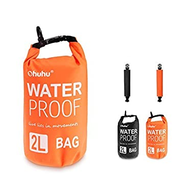 Ohuhu Dry Sack/ Waterproof Bag for Boating, Kayaking, Hiking, Snowboarding, Camping, Rafting, Fishing and Backpacking, Orange
