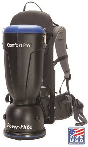 Powr-Flite BP6S Comfort Pro Backpack Vacuum, 6 quart Capacity -