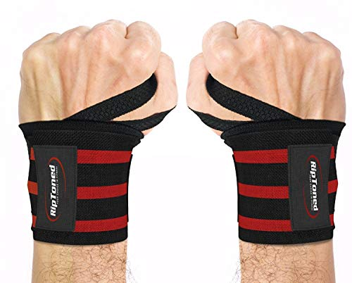 """Rip Toned Wrist Wraps 18"""" Professional Grade with Thumb Loops"""