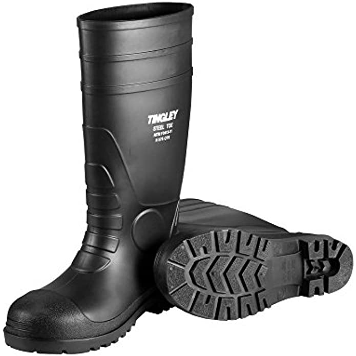 TINGLEY Rubber Blk Steel Toe Boots 31244 Work Shoes/Boots