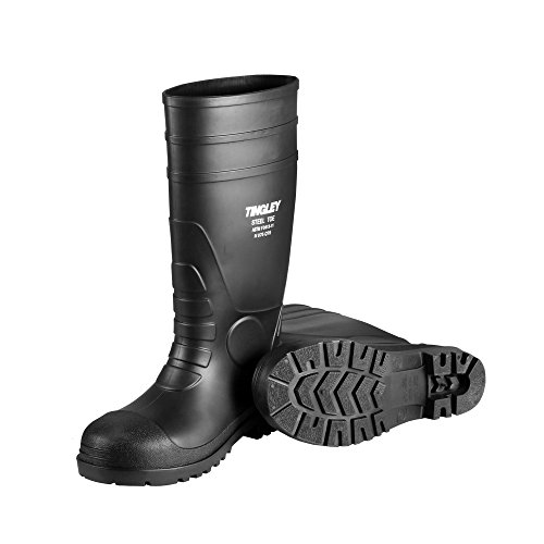 09 Boots - Tingley 31251.09 Pilot 15-in Cleated Steel Toe Knee Boot, Size 9, Black