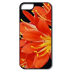 IPhone 5 5S Case, Kaffir Lily Clivia White/black Cover For IPhone 5S