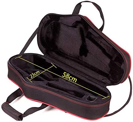 YANQ Saxophone Case Alto Drop E Saxophone with Luggage Double Shoulder Carrying Bag Hard Bag
