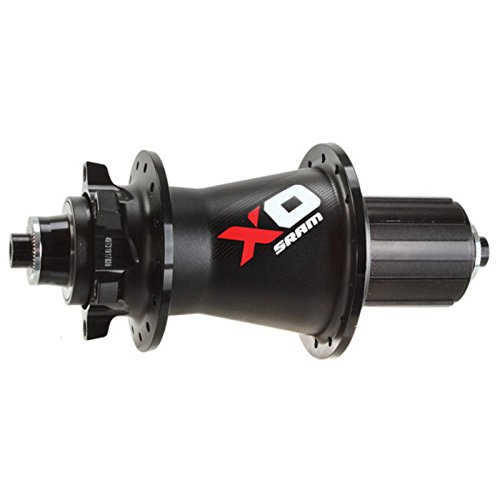 (SRAM X0 MTB 32 Hole Rear Hub, Black/Red)