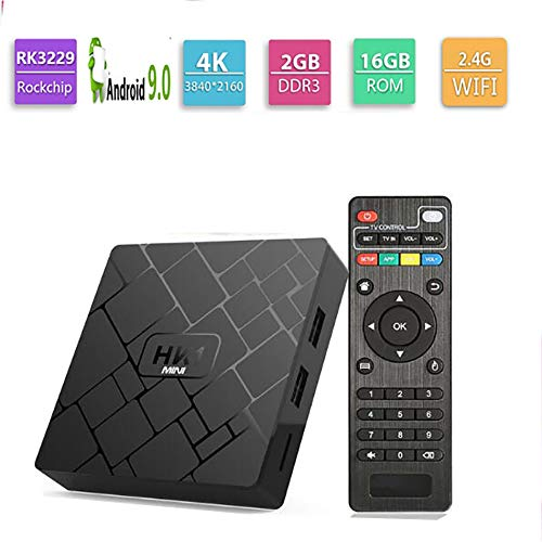 WXJHA Android 9.0 TV BOX 4GB RAM 32GB ROM Quad-Core 64Bit with Dual-Wifi 2.4G/5.0G 3D Ultra HD 4K BT 4.0 USB 3.0 Smart…