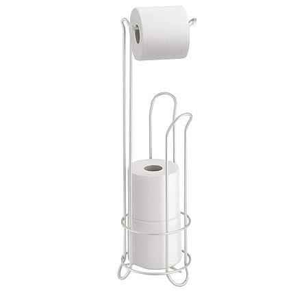 InterDesign Classico Portarrollos de papel higiénico de pie, dispensador de papel de baño de metal