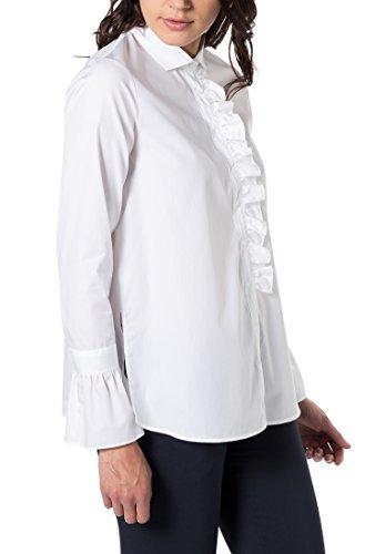 ETERNA long sleeve Blouse MODERN FIT uni blanco