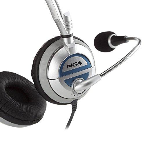 NGS MSX6 PRO - Auriculares de diadema abiertos (con micrófono), plateado: Amazon.es: Electrónica