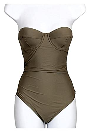 83ab2f66bd Image Unavailable. Image not available for. Color: J Crew DD-Cup Underwire  One-Piece Swimsuit ...
